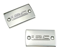 "Triple Chromed - Hayabusa (99-Present) Master Cylinder Cap Set Engraved with ""LRC"" (Product Code #CA3002LRC)"