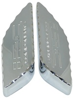 TRIPLE CHROMED - HAYABUSA (99-07) TANK PADS, DIAMOND CUT STYLE, ENGRAVED WITH LRC (Product Code #CA3175LRCD)