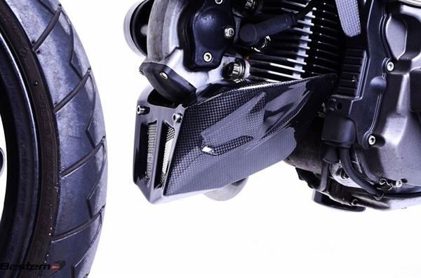 Ducati Monster 696 796 1100 Evo Carbon Fiber Belly Pan Lower Spoiler Kit