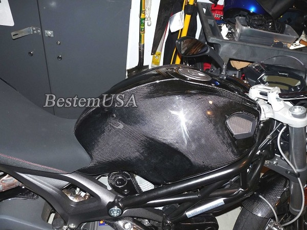 Ducati Monster 696 796 1100 Carbon Fiber Side Tank Covers