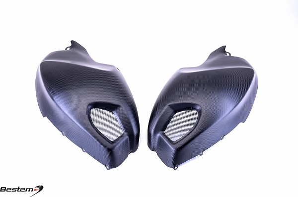 Ducati Monster 696 796 1100 Carbon Fiber Side Tank Covers Matte Finish