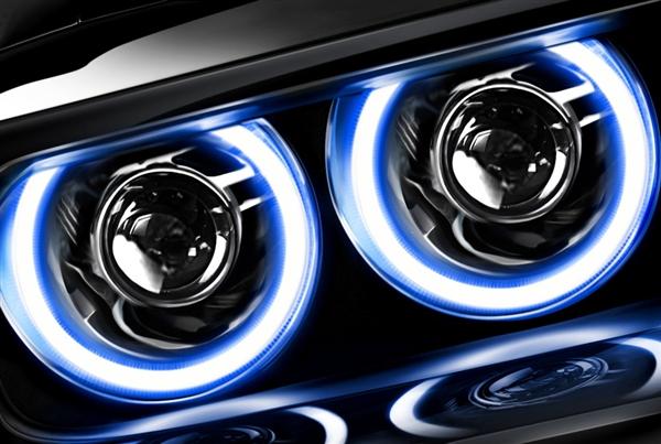 Suzuki GSXR 600 750 2004-2005 Color Changing Plazma LED Headlight Halo Dual  Kit