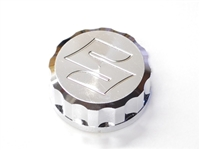 SUZUKI ENGRAVED FRONT BRAKE RESERVOIR CAP CHROME