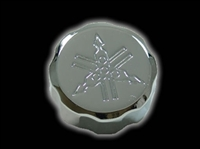 YAMAHA ENGRAVED FRONT BRAKE RESERVOIR CAP CHROME
