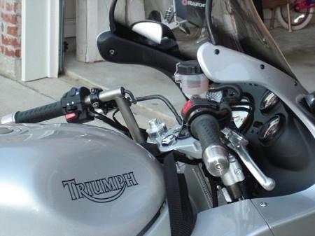 triumph sprint st 2002-2006 convertibars handlebar riser system