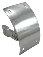 TRIPLE CHROMED KAWASAKI ZX6/ZX7/ZX9/ZX12/ZX14 LICENSE PLATE BRACKET FOR SWINGARM - BILLET ALUMINUM SILVER (product code # CYS2549023)