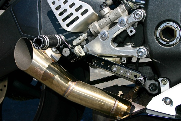 Kawasaki ZX6/ZX10R Adjustable 360 Foot Peg Mounting Kit (Pegs Sold Seperately) - CHROME