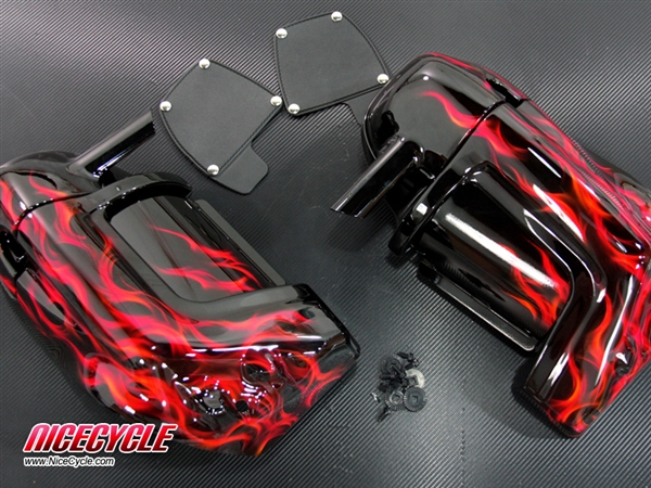 Harley Davidson Lower Vented Fairings Custom Airbrushed