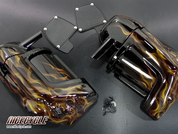 Harley Davidson Lower Vented Fairings Custom Airbrushed