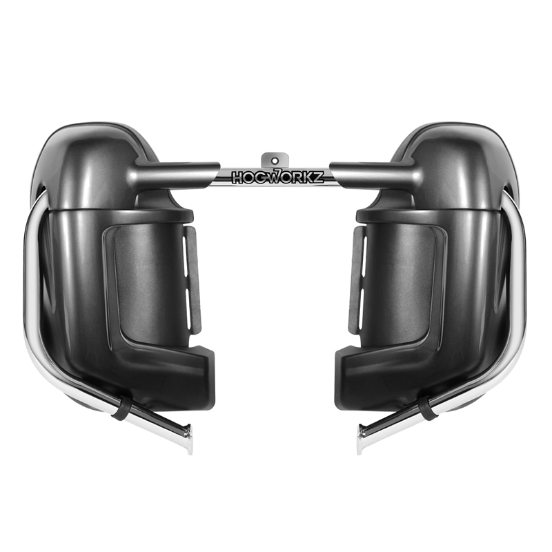 HOGWORKZ   Harley Davidson Road Glide Vivid Black Lower Vented Fairings Leg    Touring + Hardware