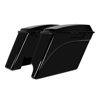 Harley 94-13 Vivid Black Stretched Saddlebags