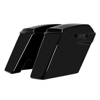 Harley Touring Dual Blocked 4 Inch Stretched Saddlebags