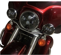 "7"" Daymaker Black Headlight with Passing Lamps"
