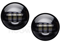 Harley Black 4.5 Inch LED Passing Lamps