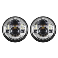 "Chrome 4.65"" LED Harley Daymaker Style Headlight"