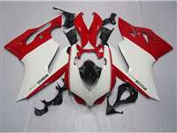 Ducati 1199 899 Panigale White with Red Fairings | ND899-1