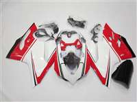 Ducati 1199 899 Panigale White/Red Motorcycle Fairings | ND899-4
