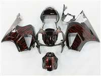Red Flame Honda VTR 1000 / RC 51 / RVT 1000 Motorcycle Fairings | NH10006-33