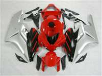 2004-2005 Honda CBR 1000RR Silver/Red OEM Style Fairings | NH10405-15