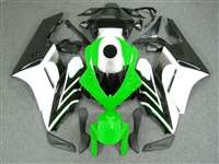2004-2005 Honda CBR 1000RR White/Green OEM Style Fairings | NH10405-26