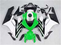 2004-2005 Honda CBR 1000RR White/Green OEM Style Fairings | NH10405-30
