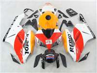 2004-2005 Honda CBR 1000RR White Repsol Race Fairings | NH10405-63