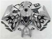 2004-2005 Honda CBR 1000RR Silver/Black Tribal Fairings | NH10405-92
