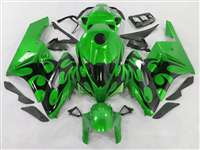 2004-2005 Honda CBR 1000RR Green/Black Tribal Fairings | NH10405-93
