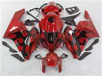 2004-2005 Honda CBR 1000RR Red/Black Tribal Fairings | NH10405-94