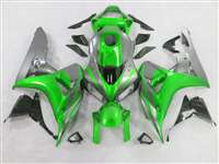 2006-2007 Honda CBR 1000RR Metallic Green/Silver Fairings | NH10607-103