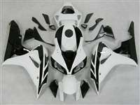 2006-2007 Honda CBR 1000RR White/Black Fairings | NH10607-14