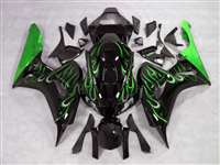 2006-2007 Honda CBR 1000RR Green Fire Fairings | NH10607-19