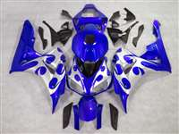 2006-2007 Honda CBR 1000RR Blue/Silver Tribal Fairings | NH10607-25