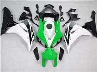 2006-2007 Honda CBR 1000RR White/Green/Black Fairings | NH10607-30