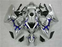 2006-2007 Honda CBR 1000RR Silver/Tribal Blue Fairings | NH10607-4