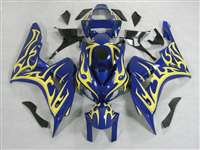 2006-2007 Honda CBR 1000RR Blue/Yellow Flame Fairings | NH10607-64
