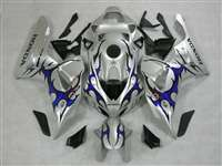 2006-2007 Honda CBR 1000RR Silver/Tribal Blue Fairings | NH10607-71