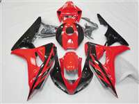 2006-2007 Honda CBR 1000RR Black Red Motorcycle Fairings | NH10607-83