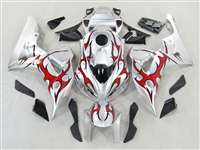 Silver/Tribal Red 2006-2007 Honda CBR 1000RR Motorcycle Fairings | NH10607-88