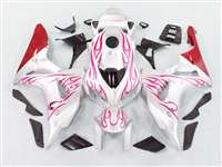 2006-2007 Honda CBR 1000RR Red Flame/White Fairings | NH10607-99