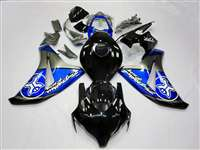 2008-2011 Honda CBR 1000RR Silver/Blue Two Brothers Motorcycle Fairings | NH10811-21