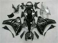 2008-2011 Honda CBR 1000RR SIlver Flame Motorcycle Fairings | NH10811-31