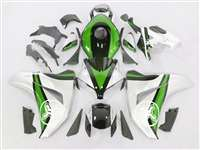 2008-2011 Honda CBR 1000RR Two Brothers Silver/Green Fairings | NH10811-54