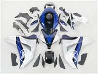 2008-2011 Honda CBR 1000RR Two Brothers Silver/Blue Fairings | NH10811-55