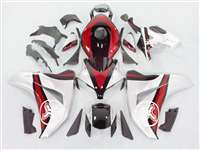 2008-2011 Honda CBR 1000RR Two Brothers Silver/Red Fairings | NH10811-56