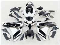 2008-2011 Honda CBR 1000RR White/Black Motorcycle Fairings | NH10811-58