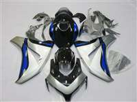 2008-2011 Honda CBR 1000RR Silver/Deep Blue Fairings | NH10811-66