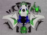 2008-2011 Honda CBR 1000RR White/Green OEM Style Fairings | NH10811-8