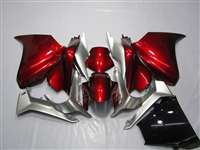 2010-2015 Honda VFR 1200F Candy Red/Silver Fairings | NH11016-1