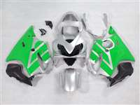 2001-2003 Honda CBR 600 F4i Silver/Green Fairings | NH60103-18